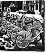 Bicycles - Velib Station - Paris Canvas Print