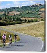Bicycling In Tuscany Canvas Print
