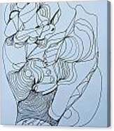 Biding Time - Doodle Canvas Print