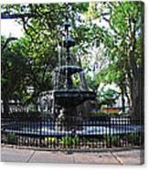 Bienville Fountain Mobile Alabama Canvas Print