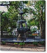 Bienville Square Fountain Closeup Canvas Print