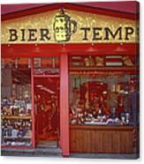 Bier Tempel Canvas Print