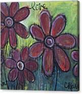 Big And Bright Daisies Canvas Print