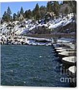 Big Bear Dam - California Canvas Print