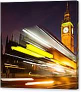 Big Ben And A Bus Trail Canvas Print