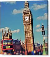 Big Ben And Commuter Traffic Canvas Print