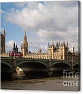 Big Ben And Houses Of Parliament Canvas Print