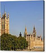 Big Ben And The Houses Of Parliament In London England Canvas Print
