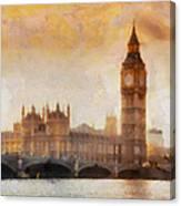 Big Ben At Dusk Canvas Print