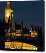 Big Ben At Night Canvas Print