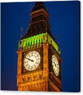 Big Ben At Night Canvas Print