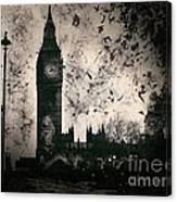 Big Ben Black And White Canvas Print
