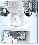 Big Bird Snow Sculpture Canvas Print