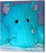 Big Blue Teddy Canvas Print