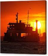 Big Boat At Sunset  Canvas Print