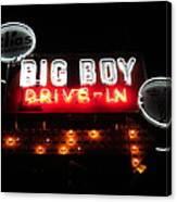 Big Boy Drive-in At Night Canvas Print
