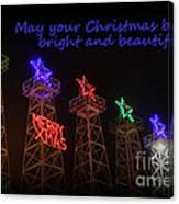 Big Bright Christmas Greeting  Canvas Print