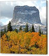 Big Chief Mountain - The Rock Of Legend Canvas Print