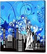 Big City Blues 4 Liberty Canvas Print