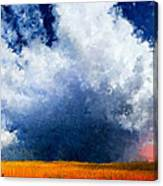 Big Cloud In A Field Canvas Print