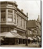 Big Curio Store Santa Cruz At 28 Pacific Avenue On The Corner Of Lincoln And Pacific. 1908 Canvas Print