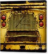 Big Dump Truck Grille Canvas Print