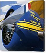 Big Foot Biplane Canvas Print