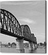 Big Four Bridge Bw Canvas Print