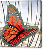 Big Glass Butterfly In Flight Canvas Print