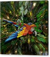 Big Glider Macaw Digital Art Canvas Print