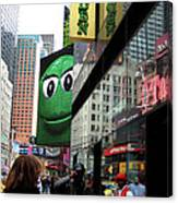 Big Green M And M Canvas Print
