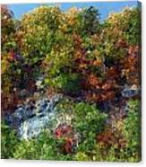 Big Hill Cliffs In Autumn Canvas Print