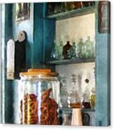 Big Jar Of Pretzels Canvas Print