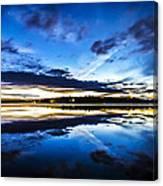 Big Lake After Sunset Canvas Print