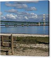 Big Mackinac Bridge 72 Canvas Print