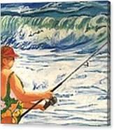 Big Momma Fishin' Canvas Print