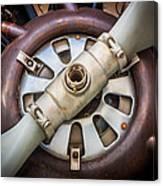 Big Motor Vintage Vintage Aircraft Canvas Print