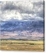 Big Pine From Highway 168 Canvas Print
