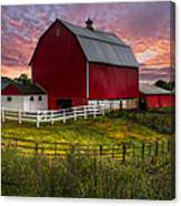 Big Red At Sunset Canvas Print