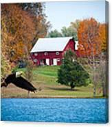 Big Red Barn Eagle Rocky Fork  Canvas Print