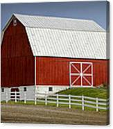 Big Red Barn In West Michigan Canvas Print