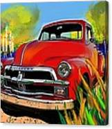 Big Red Chevy Canvas Print