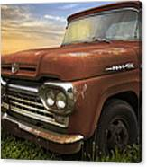 Big Red Ford Canvas Print