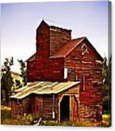 Big Red Grain Elevator Canvas Print