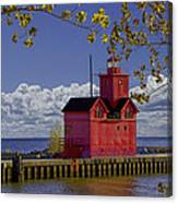 Big Red Lighthouse By Holland Michigan No.0255 Canvas Print