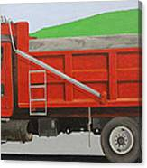 Big Red Truck Canvas Print