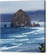 Big Rock On The Oregon Coast Canvas Print