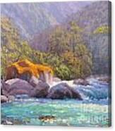 Big Rocks Holyford River Canvas Print