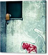 Big S With Window Pipe And Red Spray Canvas Print