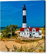 Big Sable Light On The Shore Canvas Print